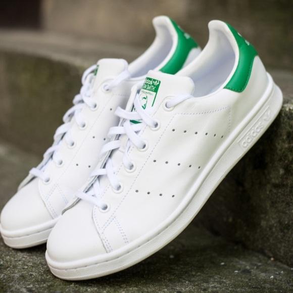 le adidas stan smith whitegreen nwot mens 45 poshmark